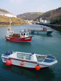 Boats in Boscastle Harbour