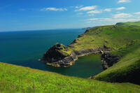 Boscastle Harbour on the North Cornish coast