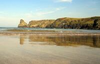 Small waves at Bossiney Haven