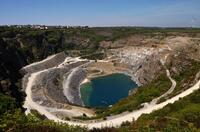 Delabole slate quarry in Cornwall