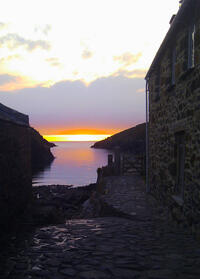 Sunset at Port Quin in North Cornwall