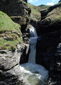 Cascades in the River Trevillet at Rocky Valley near Tintagel