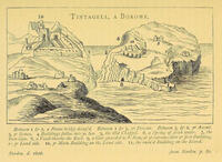 Diagram of Tintagel Castle