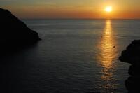 Tintagel Haven - sunset from Barras Nose